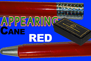 Appearing Cane, Recoil Stopper - Metal - Red