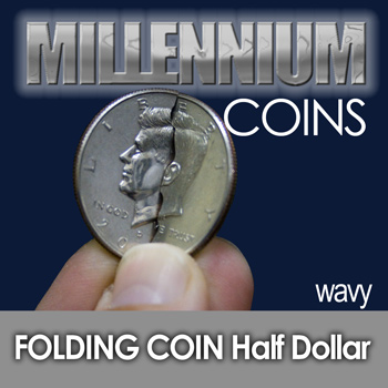 Folding Half Dollar - Wavy Cut - Mill.