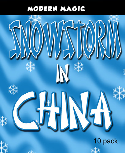 Snow Storm in China, White - Modern
