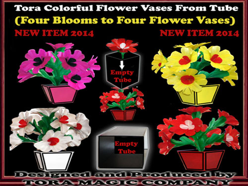 Colorful Flowers & Vases from Tube