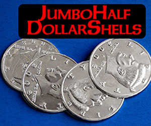 Jumbo Half Dollar 3 Shells + 1 Coin Set