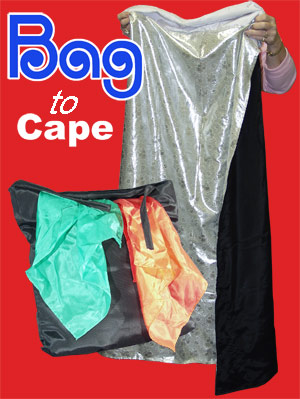 Bag to Cape - Black to White