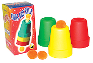 Cups and Balls, Large - Plastic - Boxed