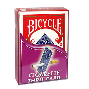 Cigarette Through Card, Europe - Bicycle