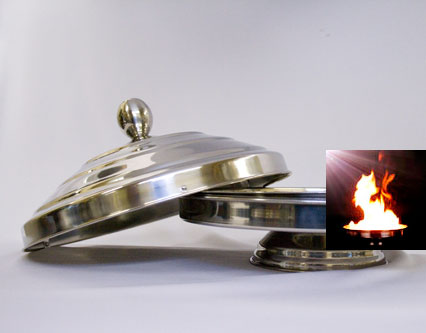 Auto Flame Electronic Dove Pan - Double