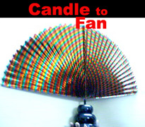 Candle to THREE Fans 15""