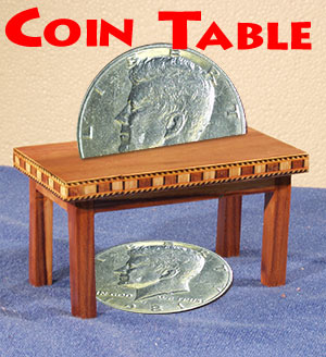 Coin Table -Mini  Wood