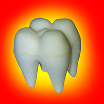 Foam Tooth 2.5 inch - White