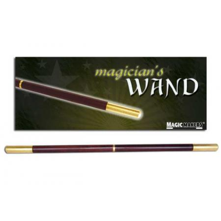 Magician's Pro Wand (Brown w/Brass Tips)