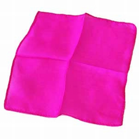Fuchsia Pink 6 inch Colored Silks- Professional Grade (12 Pack)