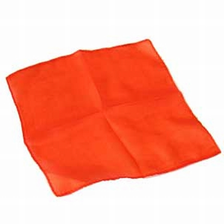 Orange 6 inch Colored Silks- Professional Grade (12 Pack)