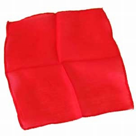 Red 6 inch Colored Silks- Professional Grade (12 Pack)