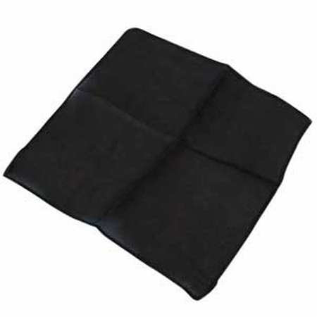 Black 9 inch Colored Silks- Professional Grade (12 Pack)