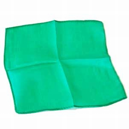 Emerald 9 inch Colored Silks- Professional Grade (12 Pack)