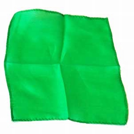 Green 9 inch Colored Silks- Professional Grade (12 Pack)