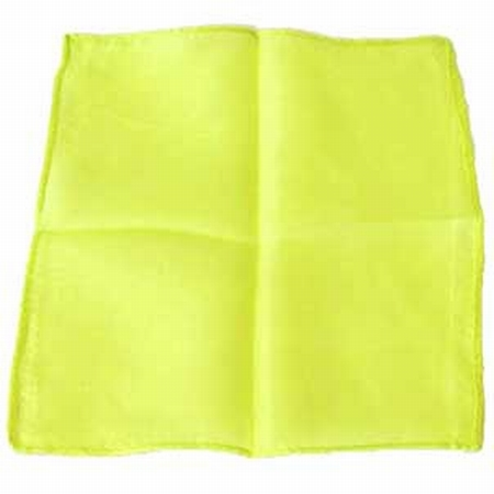 Lemon 9 inch Colored Silks- Professional Grade (12 Pack)