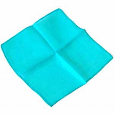 Turquoise 9 inch Colored Silks- Professional Grade (12 Pack)