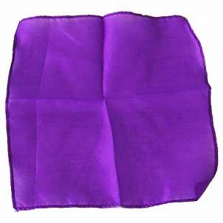Purple Violet 9 inch Colored Silks- Professional Grade (12 Pack)