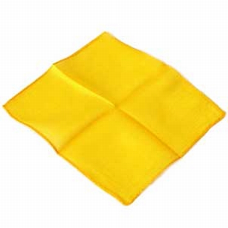 Golden Yellow 9 inch Colored Silks- Professional Grade (12 Pack)