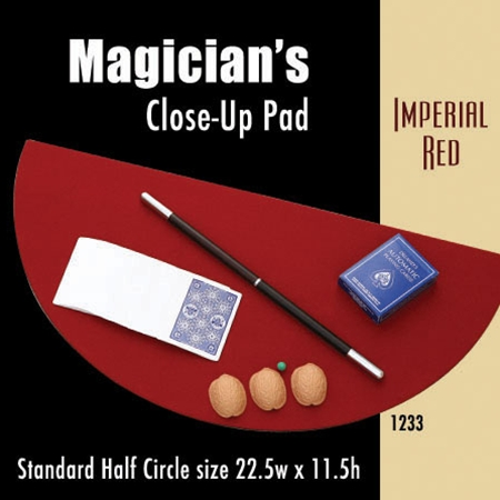 Standard Half Circle Close-up Pad (Imperial Red) 22.5 x 11.5