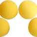 3 inch Super Soft Sponge Ball (Yellow) Pack of 4 from Magic by Gosh
