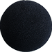 4 inch Regular Sponge Ball (Black) from Magic by Gosh (1 Each)