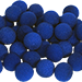 2 inch Super Soft Sponge Ball (Blue) Bag of 50 from Magic by Gosh