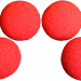 1 inch Regular Sponge Ball (Red) Pack of 4 from Magic by Gosh