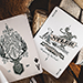 Antler Playing Cards (Green) by Dan and Dave
