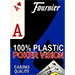 Fournier plastic Playing Cards Large Pips (blue)