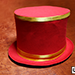 Collapsible Top Hat (Red) by Mr. Magic - Tour