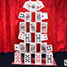 Card Castle with Six Card Repeat by Mr. Magic - Tour