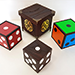 Color Changing Dice (4 Wooden Die) - Tour