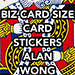 Business Card Stickers by Alan Wong - Trick