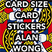 POKER Size Card Stickers by Alan Wong - Trick