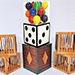 Transformation of Dice to Crystal Cube then to 4 Cages (Wooden) by Tora Magic - Tour