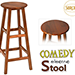Comedy Electric Stool (Wood) by Sorcier Magic - Trick