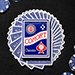 Blue Cohorts (Luxury-pressed E7) Playing Cards