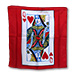"18"" Queen of Heart Card Silk by Magic by Gosh - Trick"