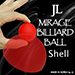 2 Inch Mirage Billiard Balls by JL (RED, shell only) - Tour